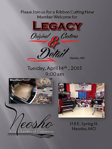 Please Join Us For A Ribbon Cutting New Member Welcome Legacy Original Customs