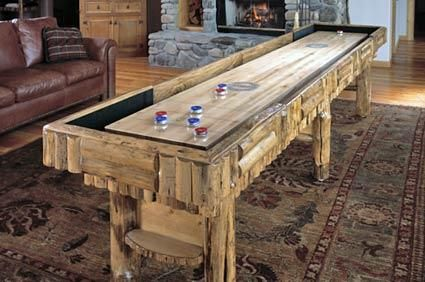 This Rustic Shuffleboard Table Looks So Cool. What If You Made A Top To Go  Over It And Used It As A Sideboard As Well? By Drawknife Billiards