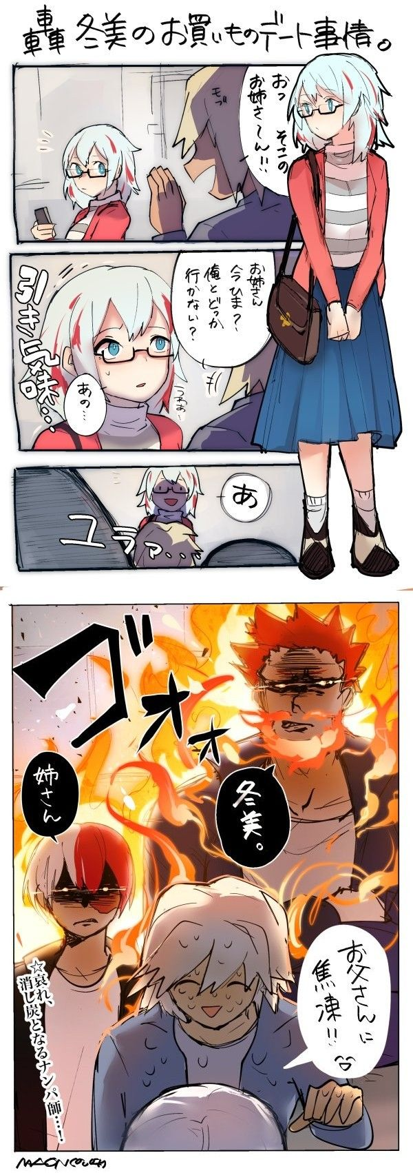 Overprotective father and son  Endeavor and Todoroki doesn't
