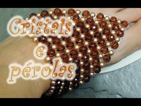 4d73995447 Chinelo decorado - Manta de cristais e pérolas - YouTube
