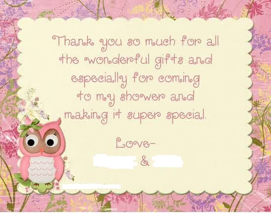 Bridal Shower Thank You Card Wording For Free Bridal Shower In