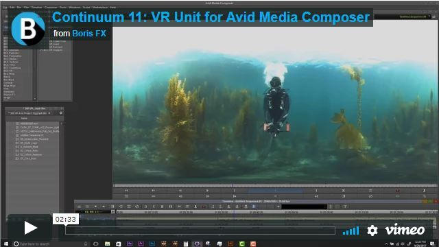 Continuum VR 360 Video Editing Plug-In for Avid Media Composer | Our