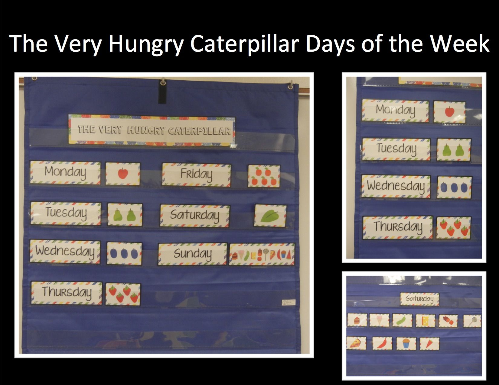 days of the week the very hungry caterpillar hungry