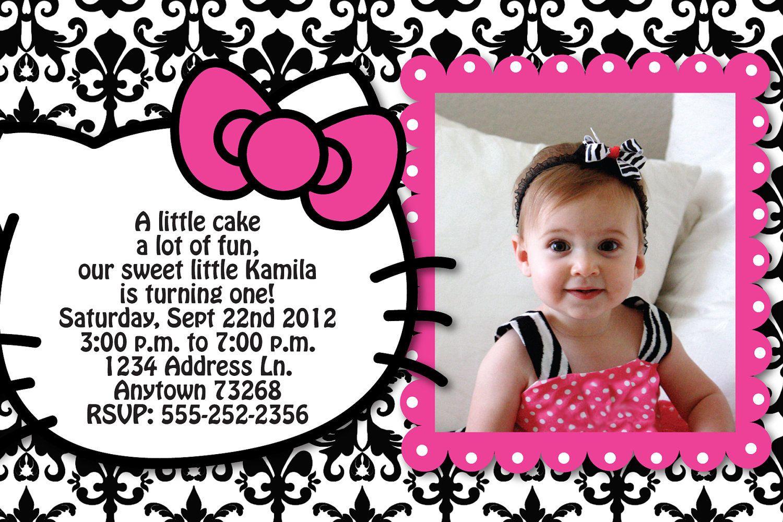 CUSTOM card for kristina basler Custom invitations Hello kitty