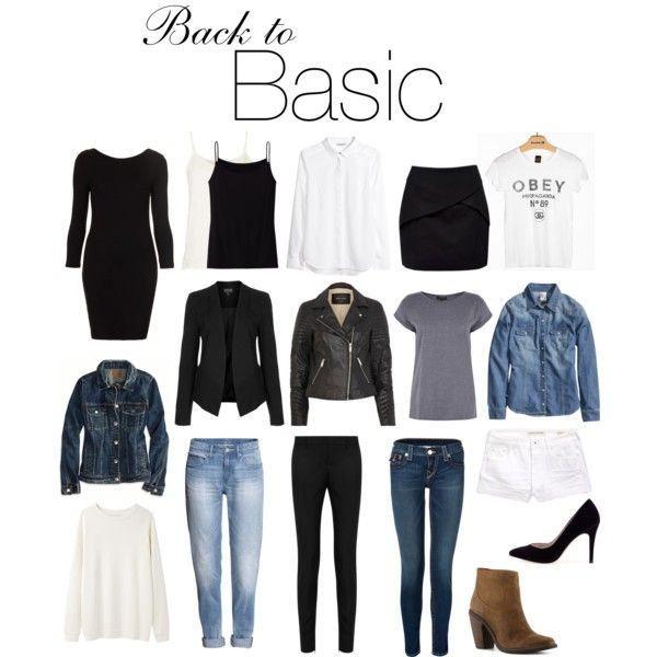 basics les essentiels de la garde robe basic outfits pinterest garde robe garde robe. Black Bedroom Furniture Sets. Home Design Ideas