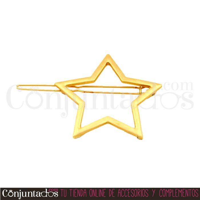 Pasador De Pelo Estrella Dorado Tienda De Accesorios Estrellas