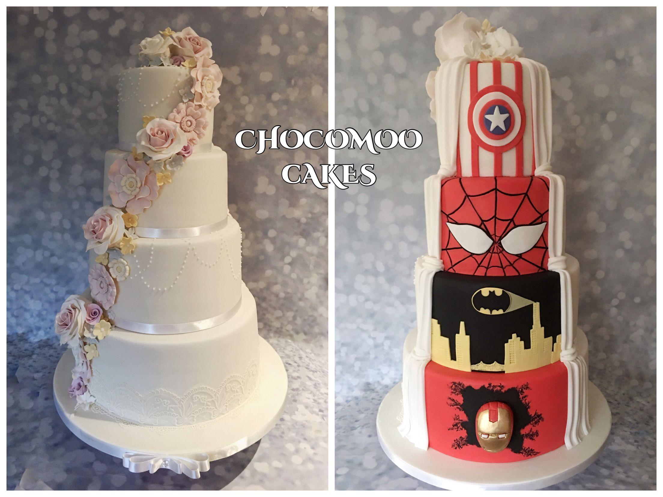 Half Superhero Half Wedding Cake Superhero Wedding Cake Batman Wedding Cakes Cake