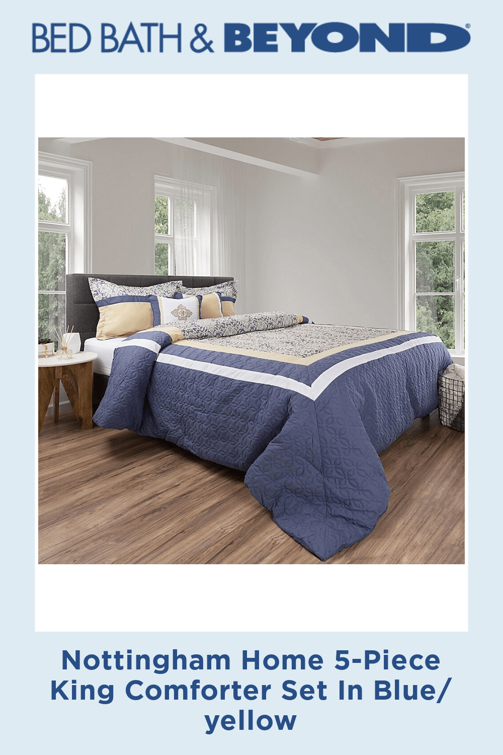 Photo of Nottingham Home 5-Piece King Comforter Set In Blue/yellow