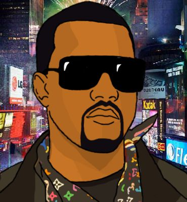 Cartoon Kanye West In Da City By M D Remadee Kanye West Cartoon Kanye