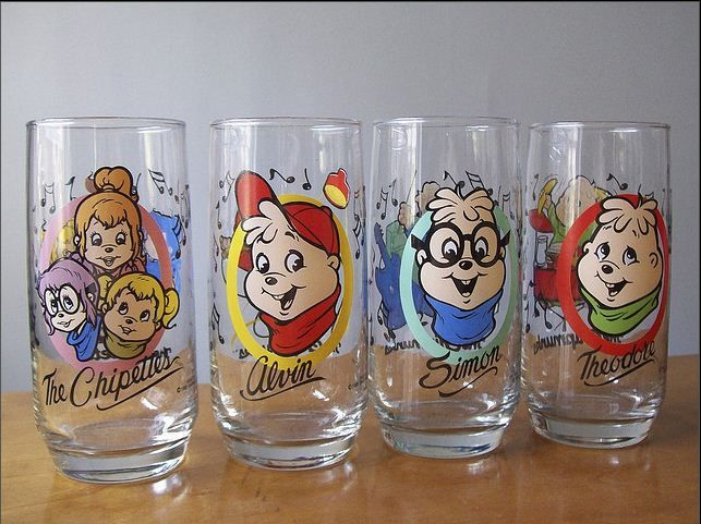 *1985 THE CHIPETTES Drinking Glass Karman Ross Productions