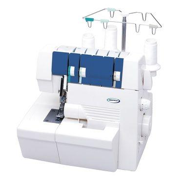 Semco Cover Stitch Machine White Blue Sewing Clothing Unique Semco Sewing Machine