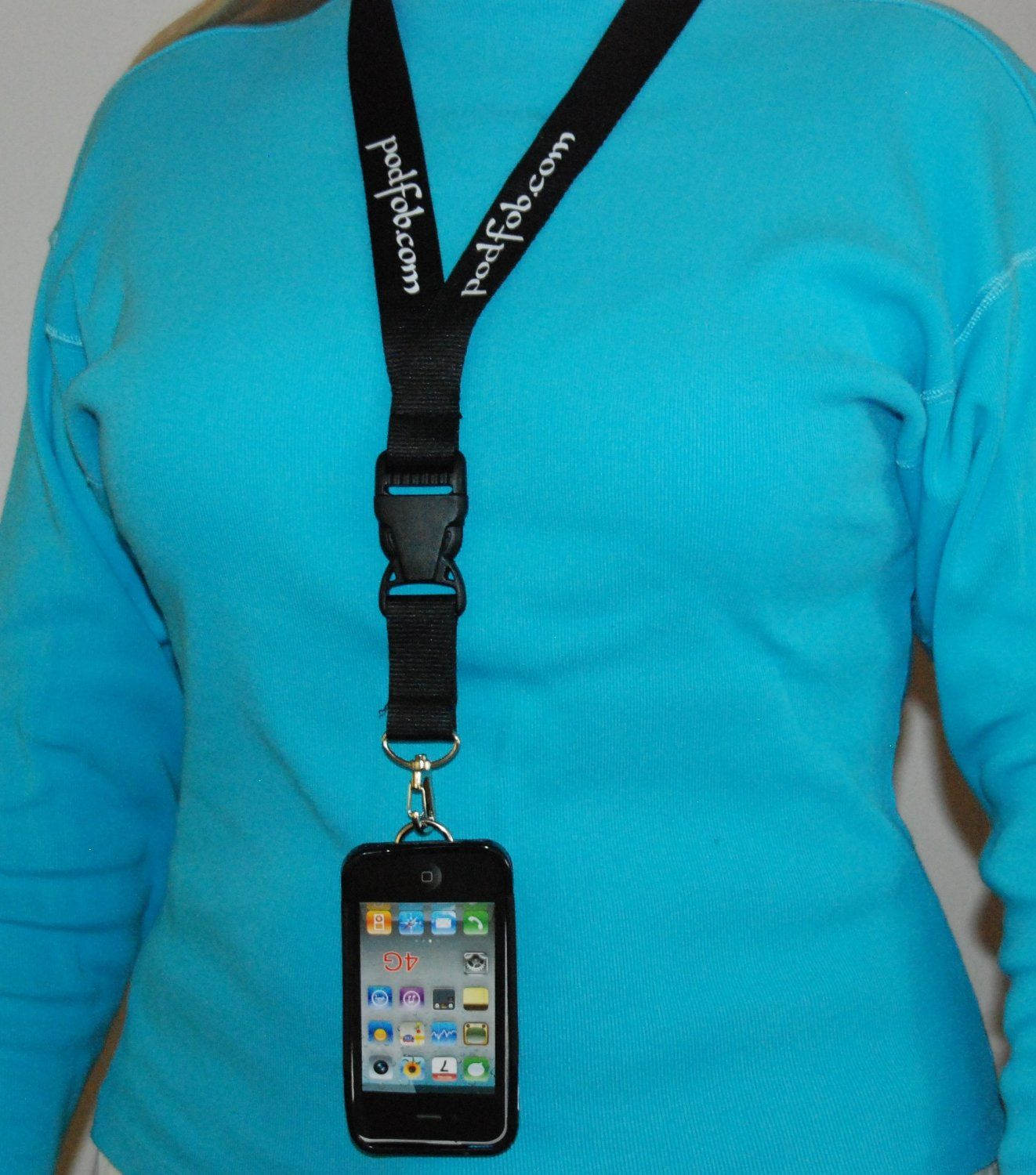buy popular 005df 58109 $30 Amazon.com: iPhone 5 Nonslip protective case and neck Lanyard ...