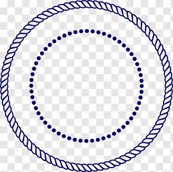 Blue Rope And Dot Rope Drawing Round Border Free Png Frame Logo Circle Drawing Rope Drawing