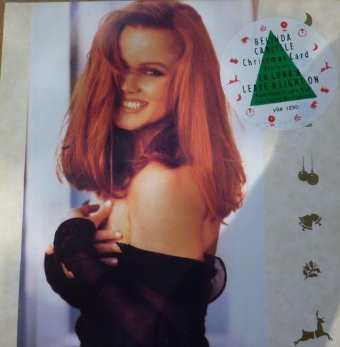 Belinda Carlisle Leave A Light On La Luna Christmas Card 7 Vinyl Record Ebay Belinda Carlisle Carlisle Long Hair Styles