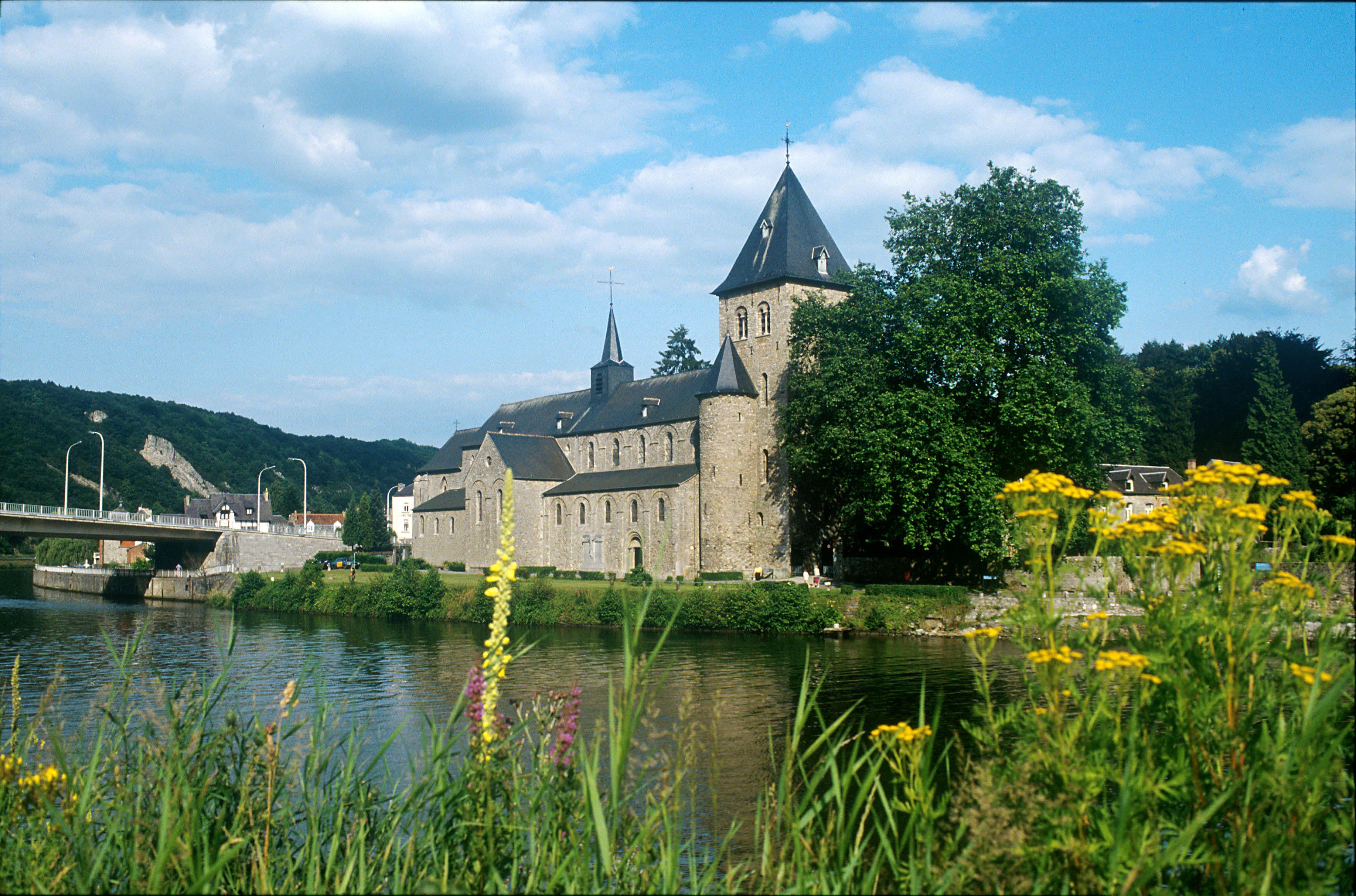 River the Meuse Hastire Namur Province Belgium castle