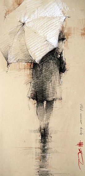 Sketch a day inspiration for day 66 umbrella beautiful andre kohn sometimes i feel like being alone