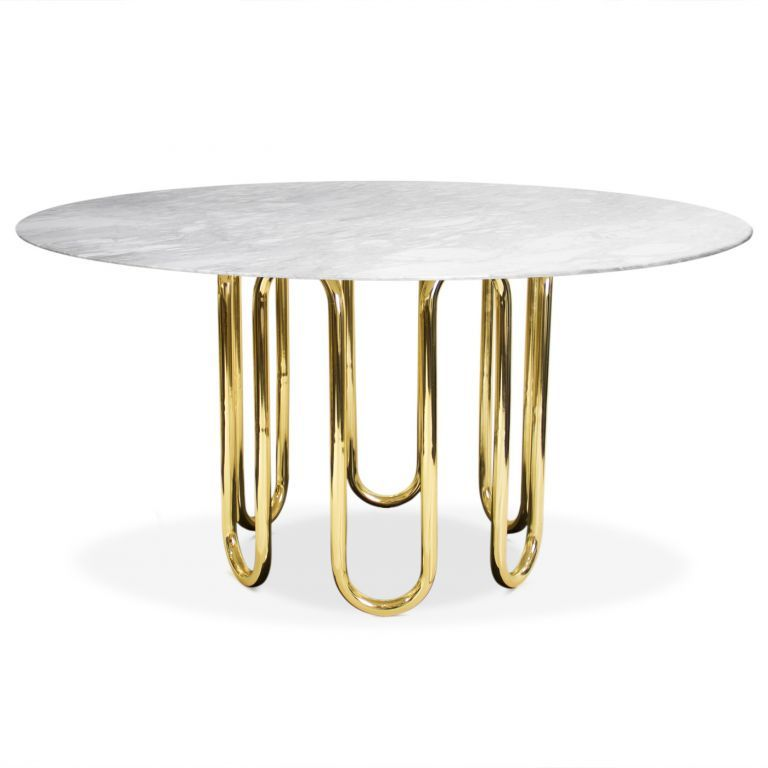 Jonathan Adler Scalinatella Dining Table Sculptural And Surreal Two Main Themes Ru Round Dining Table Modern Modern Round Dining Room Round Dining Room Table