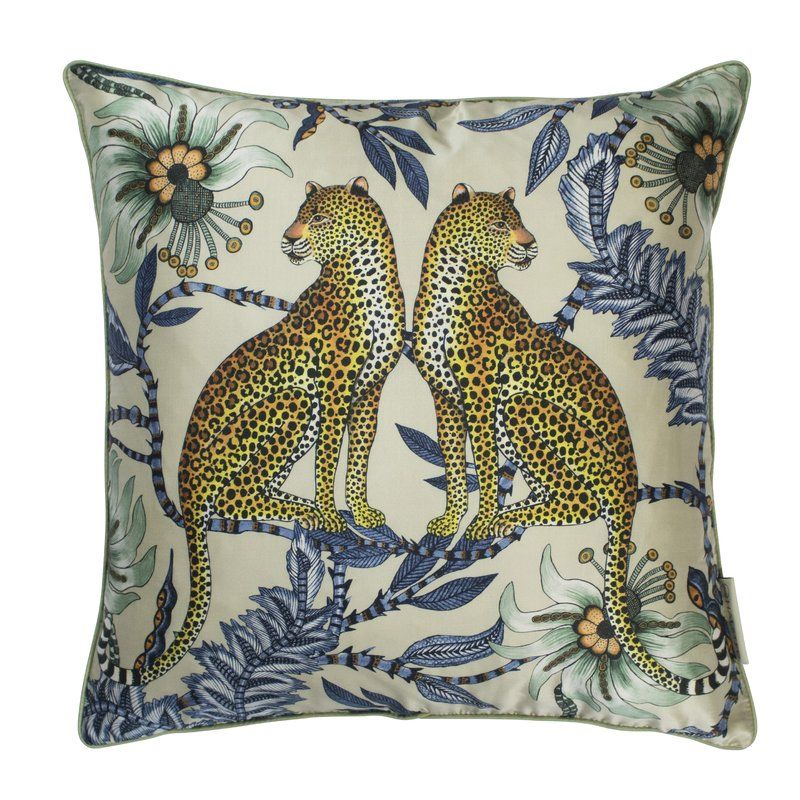 Ardmore Silk Floral Throw Pillow In 2021 Leopard Pillows Silk Throw Pillows Silk Pillow Cover
