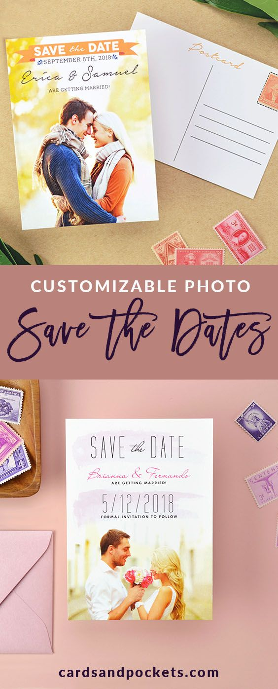 Customizable Save The Date Postcards