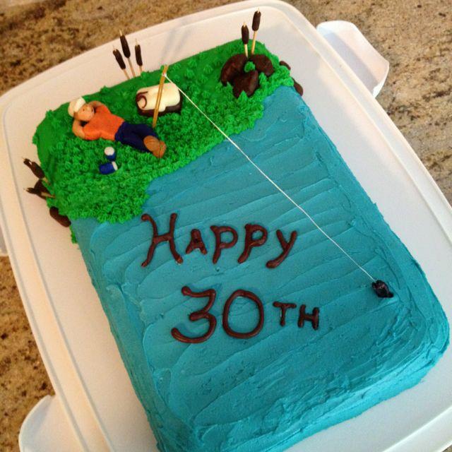 Fishing Birthday Cake With Homemade Modeling Chocolate