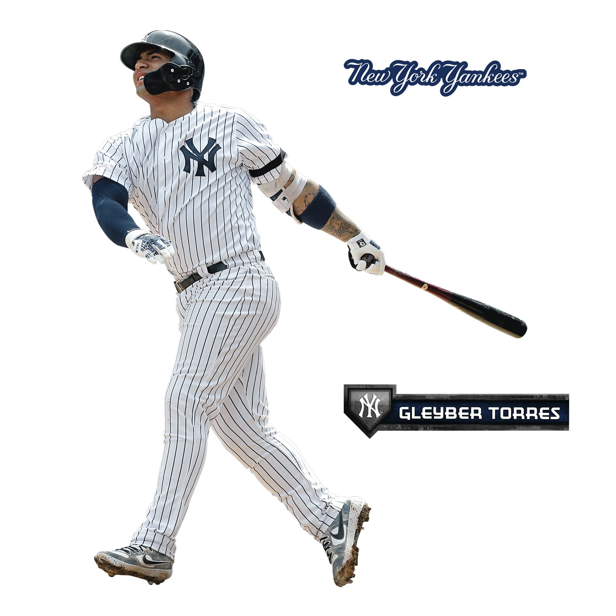 Gleyber Torres X Large Officially Licensed Mlb Removable Wall Decal In 2020 Gleyber Torres Removable Wall Decals Life Size Cutouts