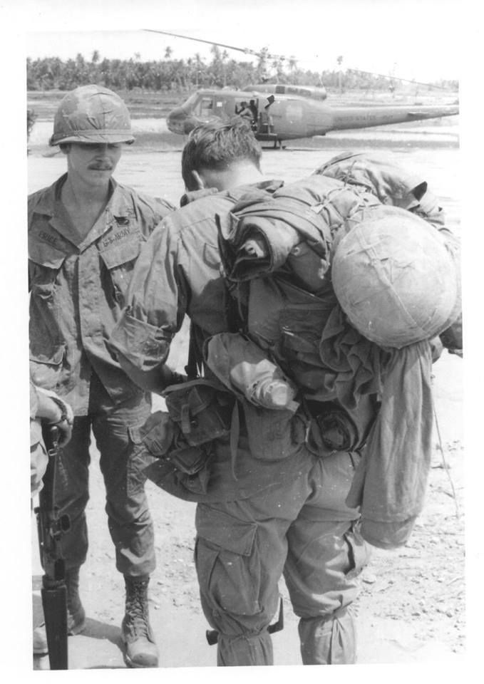 """Price and Mays LZ N English."" These men were with the 173rd Airborne."