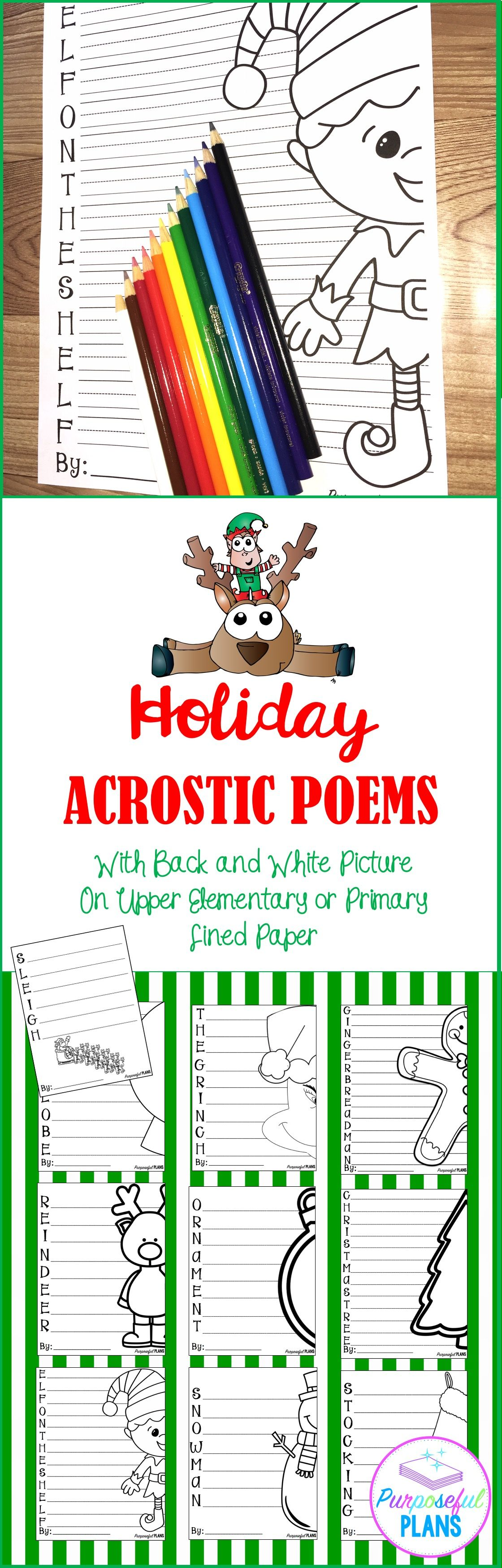 Christmas Holiday Acrostic Poems
