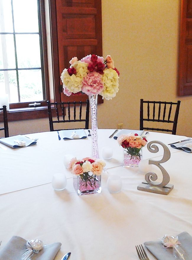 Pink and gray eiffel tower centerpieces at brookshire columbus ohio pink and gray eiffel tower centerpieces at brookshire columbus ohio wedding reception venues junglespirit Gallery