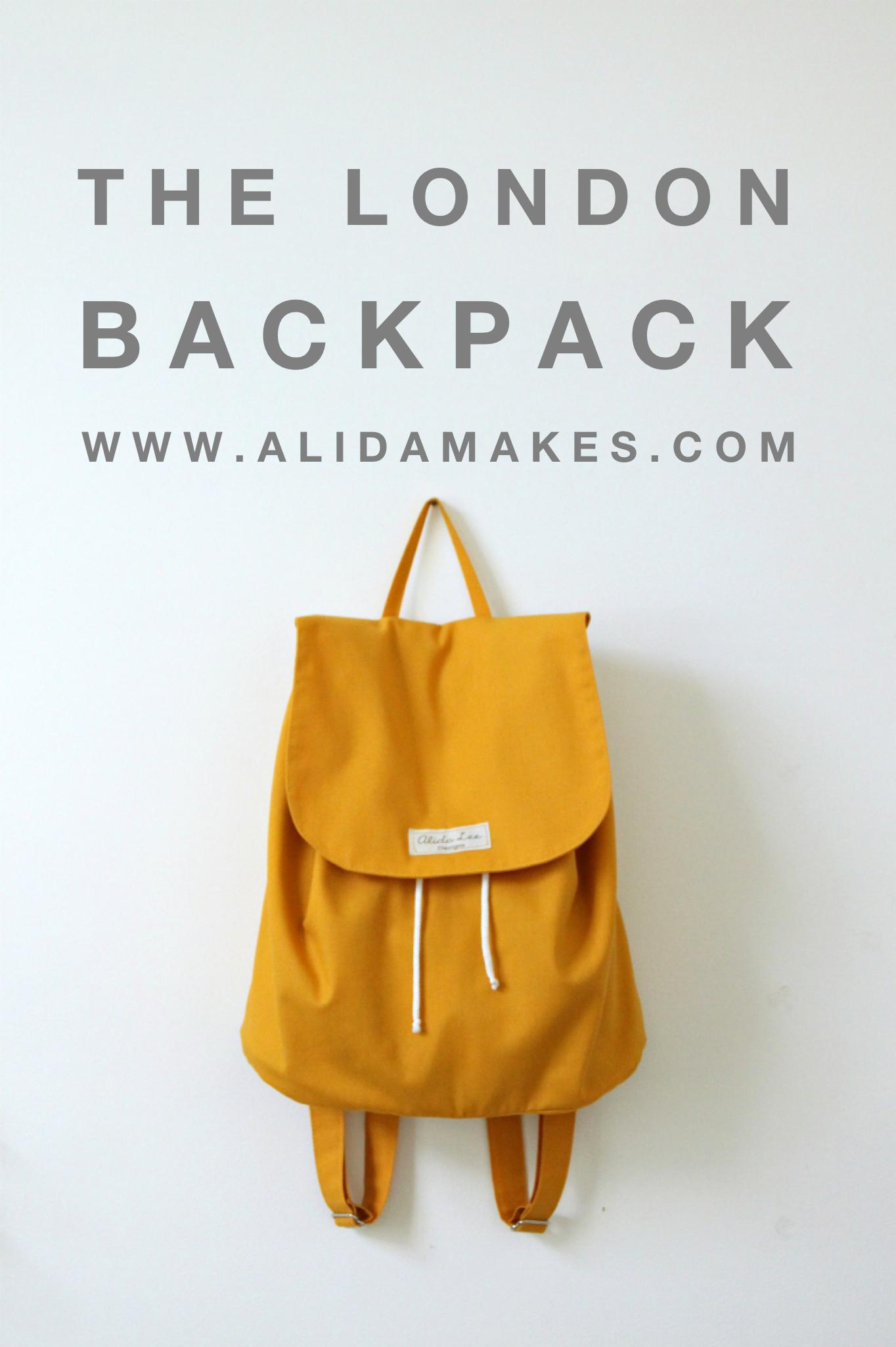 The London Backpack | Sewing | Pinterest | Diy nähen, Stricktaschen ...