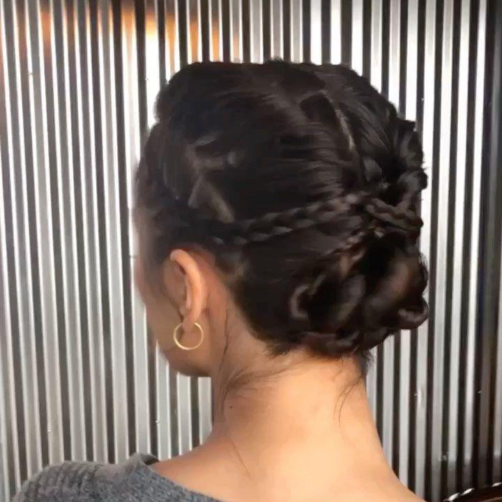 "Stephanie Brinkerhoff's Instagram profile post: ""The art of the baby hairs 😂 love it though! #hairandmakeupbysteph beautiful makeup by @morganfaymua on @amekianaa #updo #braids"""