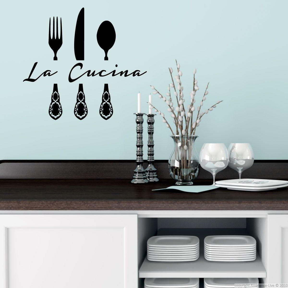 stickers muraux pour la cuisine sticker la cucina 2 ambiance stickercom