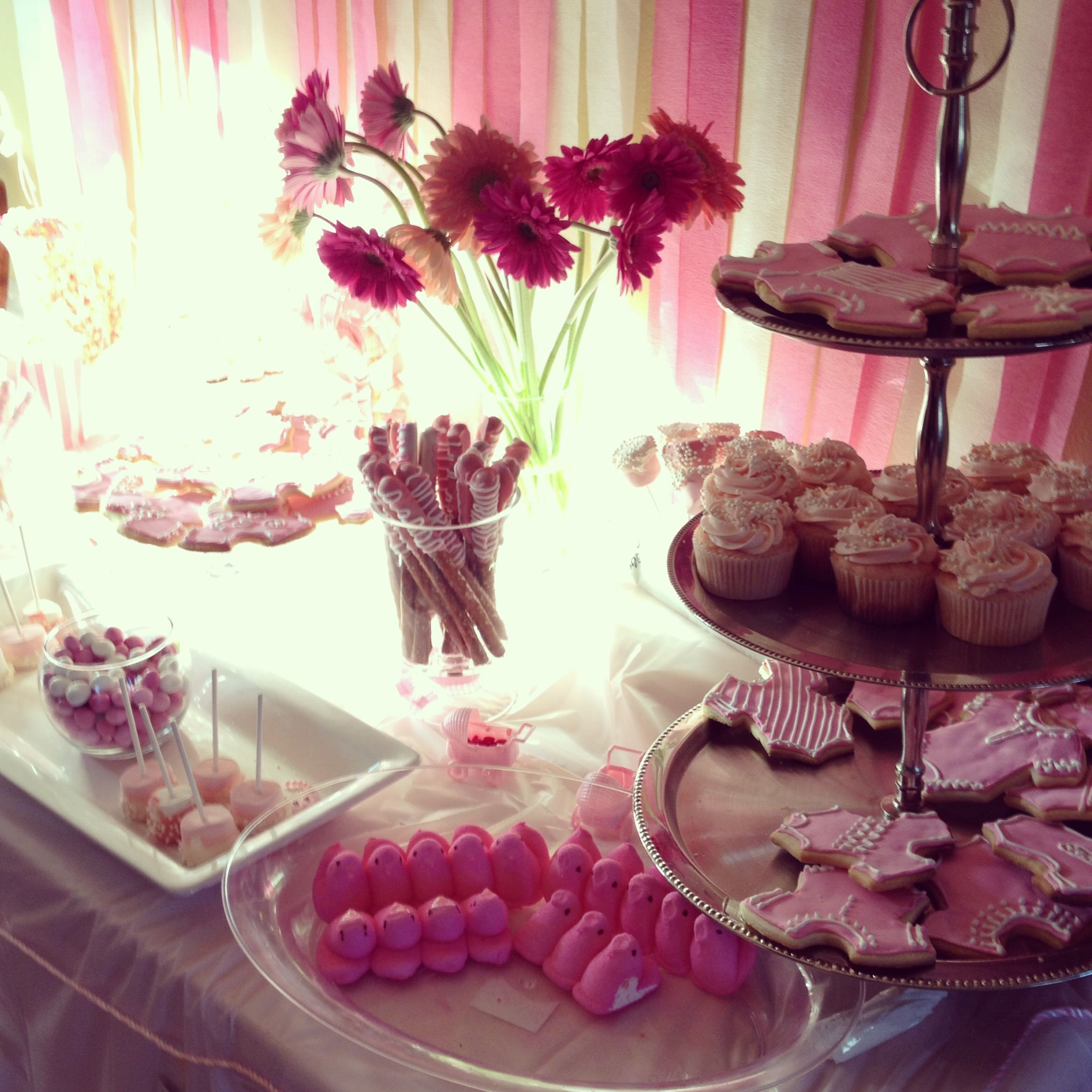 Ideas for a girl baby shower snack bar