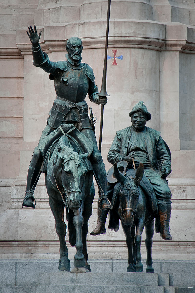 Bronze Statues Of Don Quixote And Sancho Panza At The Plaza De España In Madrid Don Quixote Wikipedia Statue Don Quixote Bronze Statue