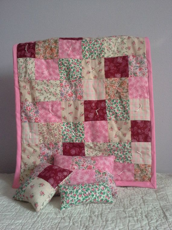 Doll Quilt Size & Handmade Doll Quilt And Pillow Reproduction ... : doll quilt size - Adamdwight.com