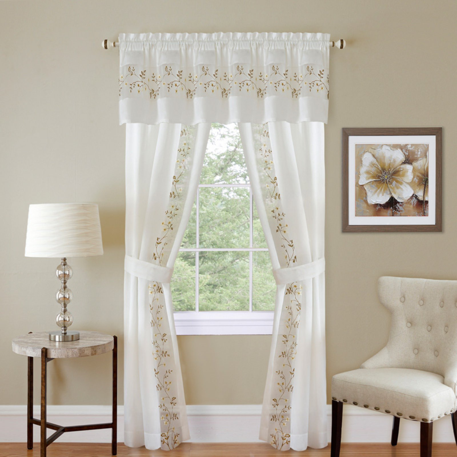 Achim Fairfield 5 Piece Curtain Set White Curtains Drapes