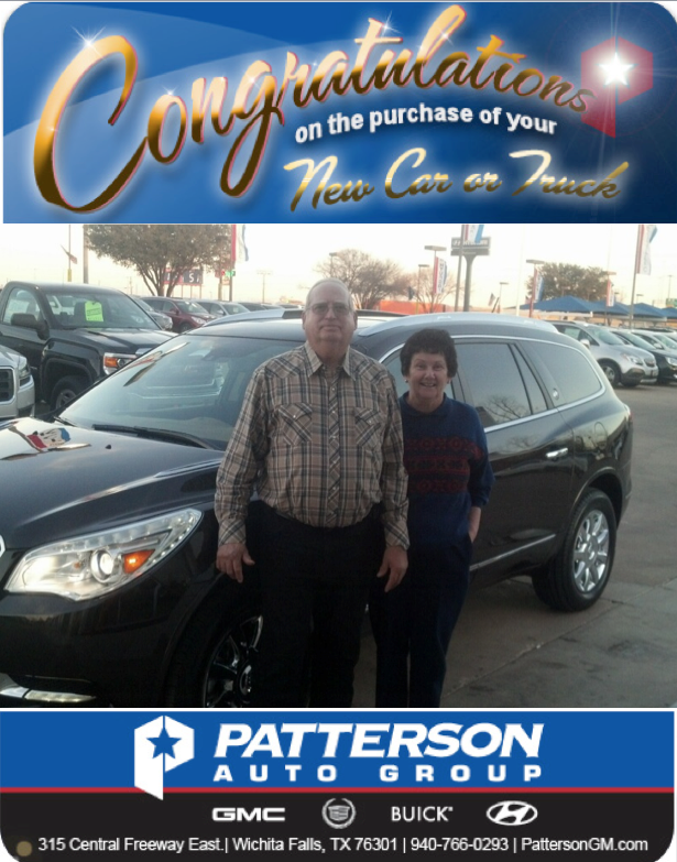 Congratulations To The Toles On Their New 2014 Buick Enclave