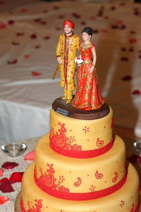 Cake Topper That Is So Life Like Indian Wedding Cakes Bridal