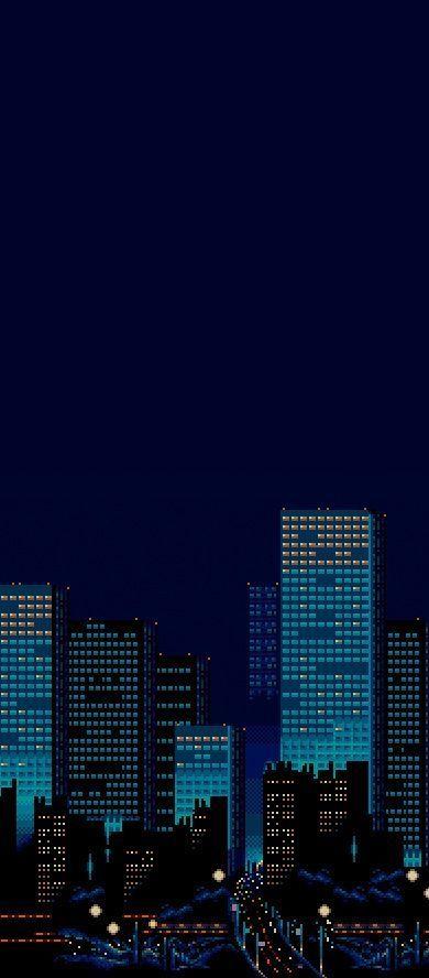 Pixel Art Pixelasthetik Anime Pinkasthetik Lilaasthetik Vergangenheit Pixel Art Landscape Pixel Art City Background