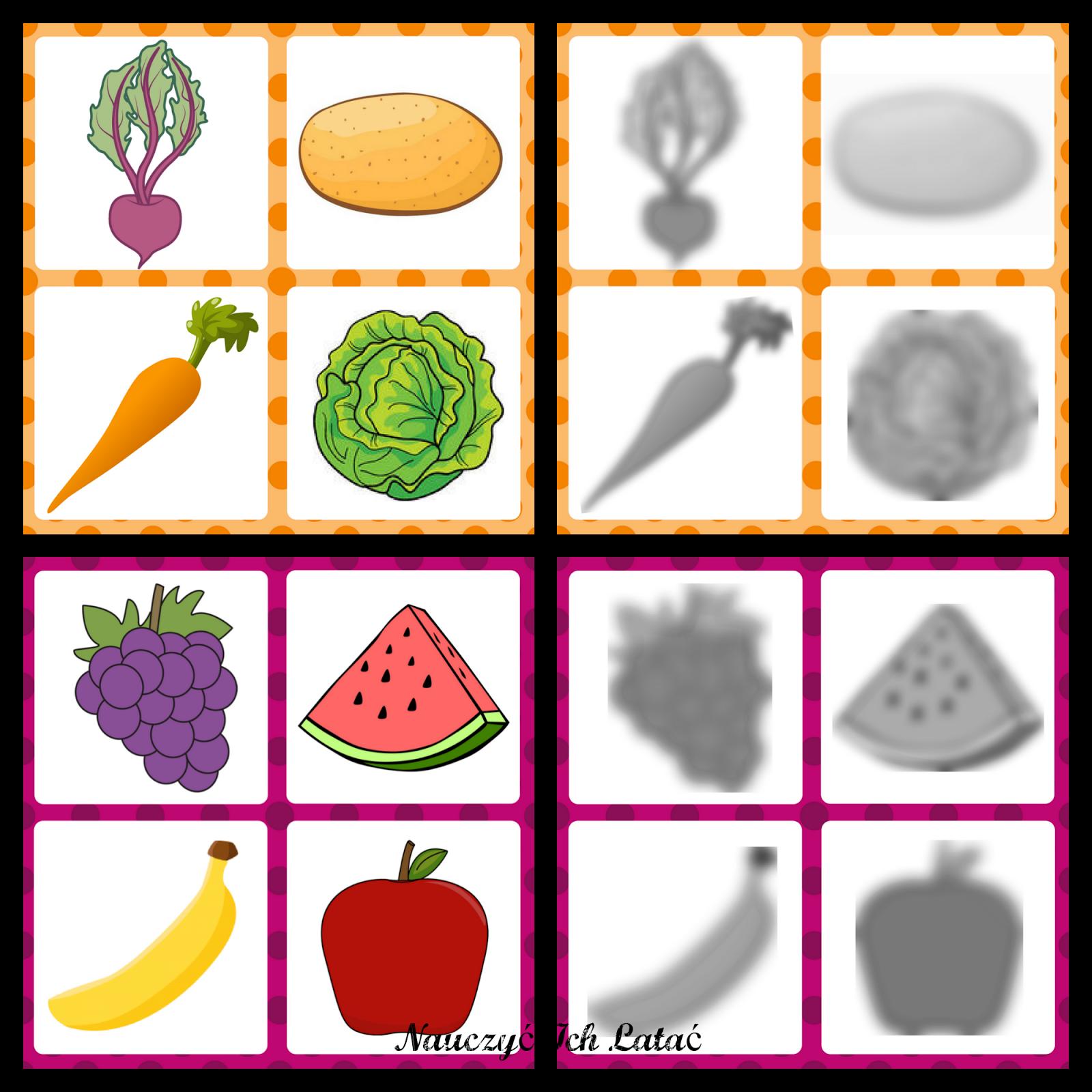 Nauczyc Ich Latac Dekoracje Przedszkole Vegetables Fruit Cards
