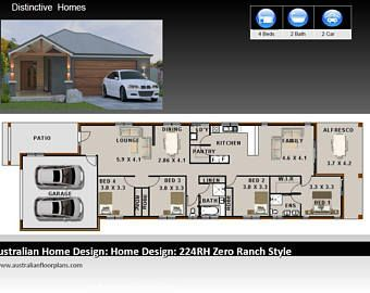 Hip Roof Style 4 Bedroom Narrow Lot House Plans - Also ...