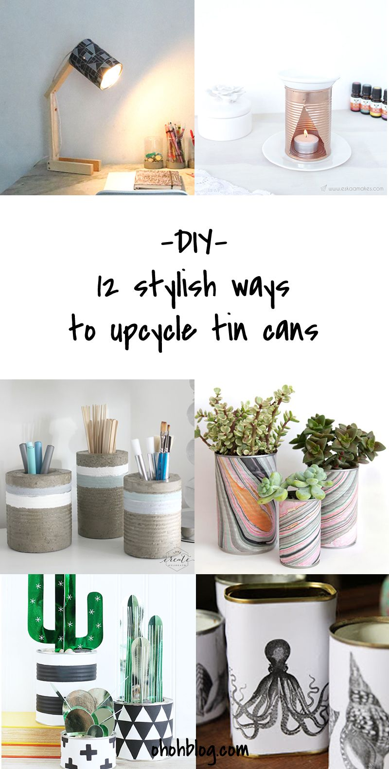 DIY to Try # upcycled tin cans | Tutorials, Upcycle and Craft