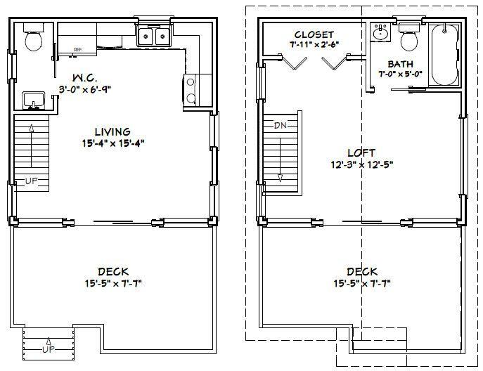 Tiny House Plans 12x16