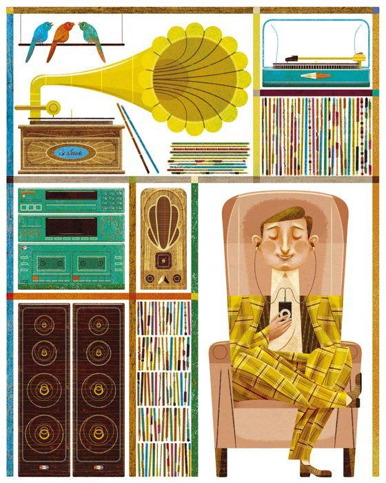 50 Records - Goncalo Viana Illustration