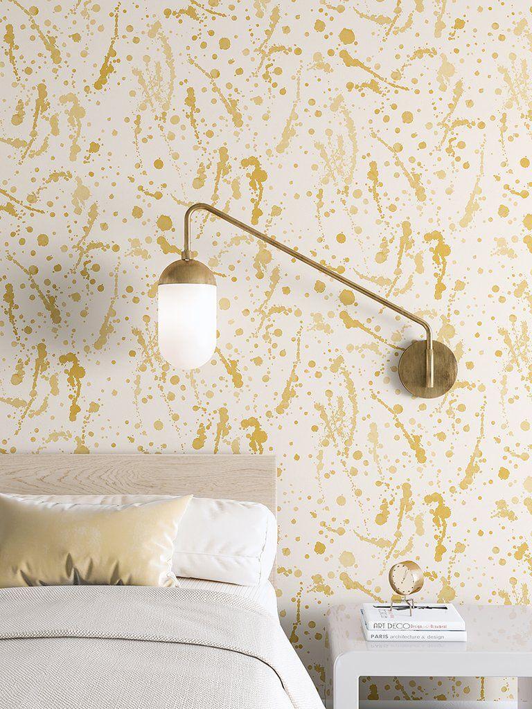 Wallpaper spot on mustard drop it modern modern and