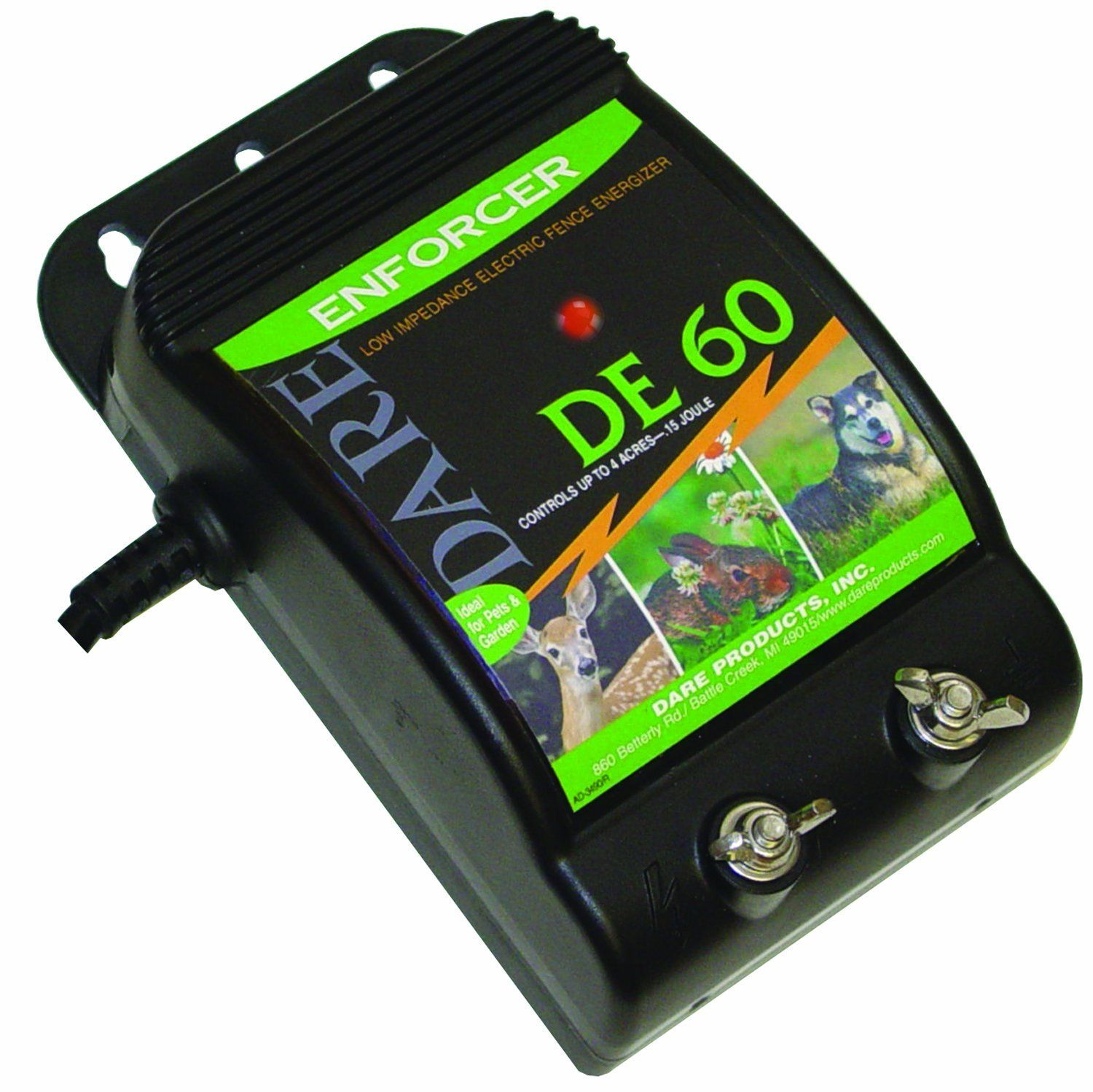 Dare Products De 60 01 Joule Fence Energizer Check Out This Electrical Control Wiring Training Great Image Dog And Behavior Aids