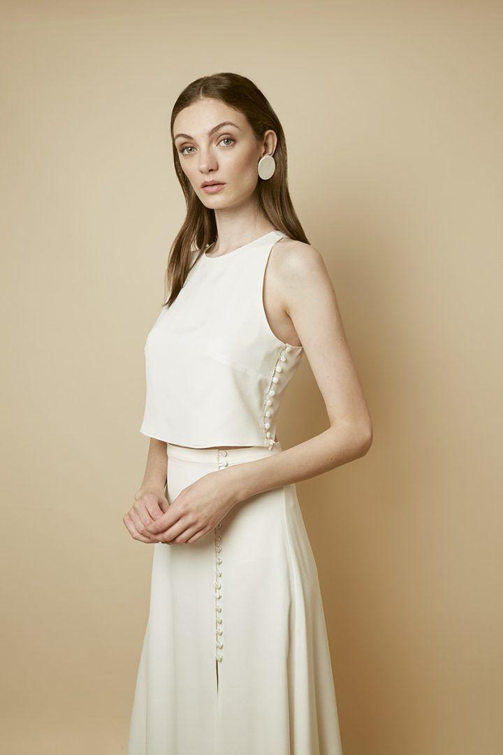 Cassis Top & Calvi Skirt – Colección de novia Otaduy 2019