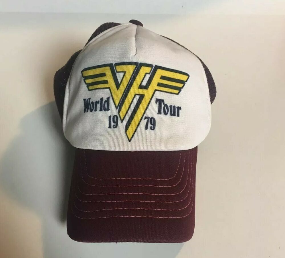 Vintage Van Halen 1979 World Tour Trucker Hat Rock And Roll Music Collectable Vanhalen Truckerhat Rock N Roll Music Van Halen Vintage Vans
