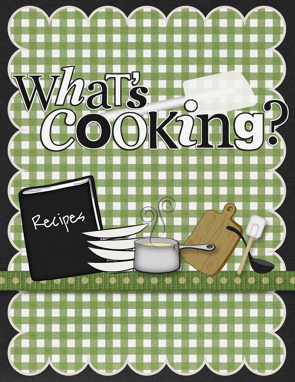 Cookbook Front Cover Design : Cook book scrapbook cover pin if you like it books