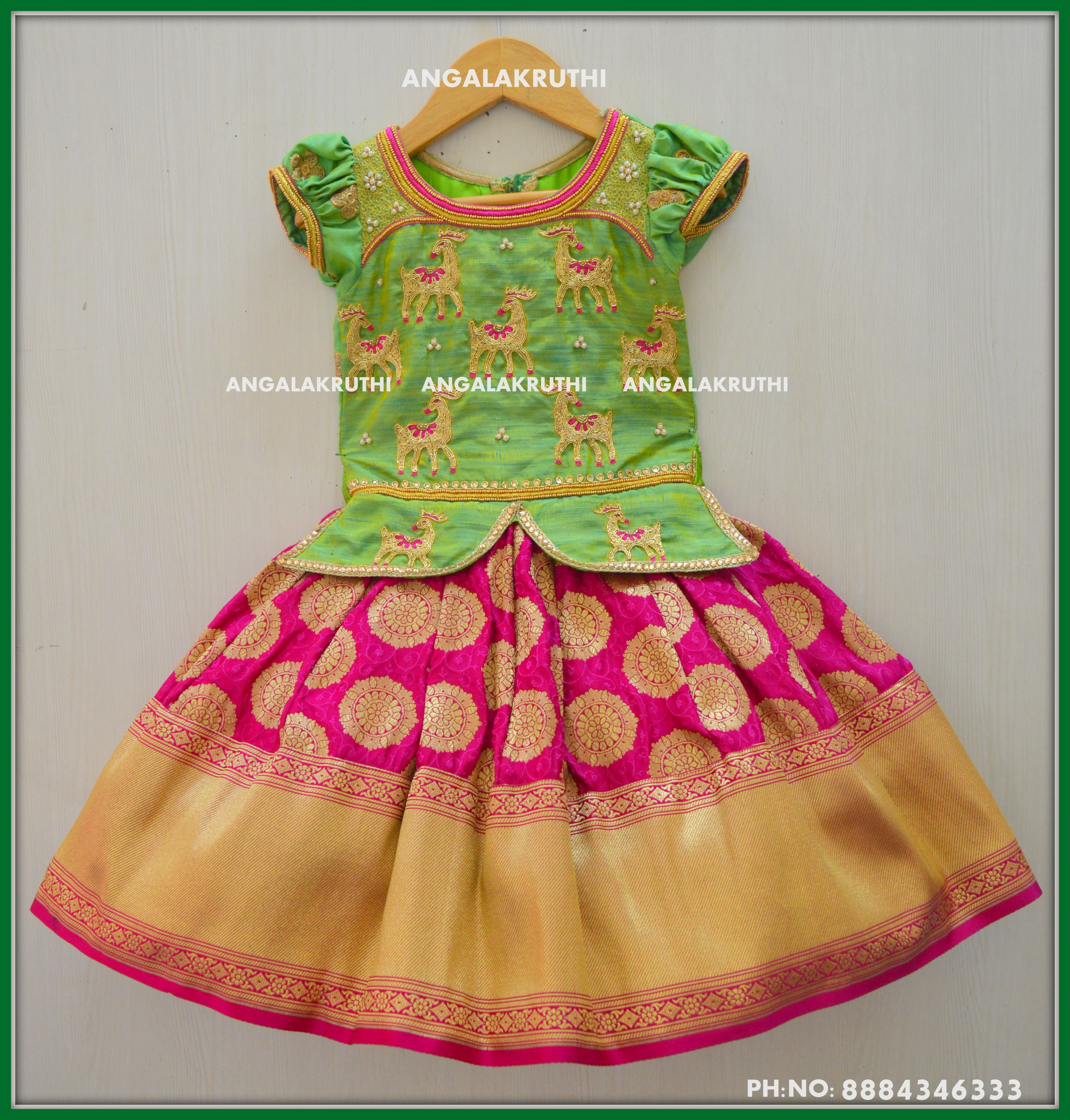 9e30a30b5b0 Kids tradational dress designs by Angalakruthi bangalore custom designer  boutique with online order placement service and international service