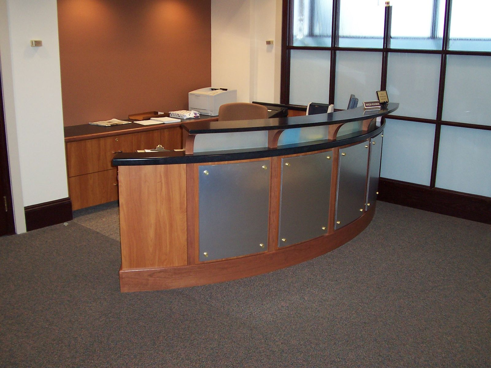Custom Made Accounting Reception Desk by Mica Shop | CustomMade ...